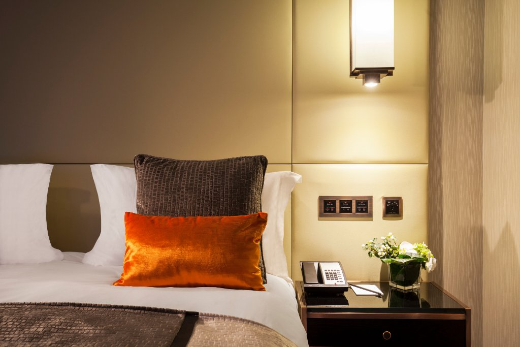 Deluxe Double Bedroom at the Montcalm Royal London House Hotel in Finsbury Square.