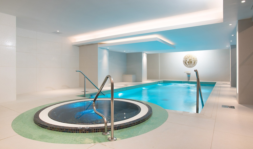 Swimming Pool and Spa at the Montcalm Royal London House Hotel in Finsbury Square.